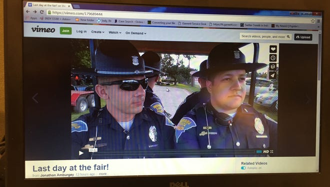 """This video showing Indiana State Police officers lip-syncing to """"Summer Nights"""" was posted Sunday night on Vimeo."""