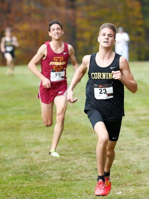 Quinn Nicholson helped Corning to a second consecutive Class AA state title in boys cross country.