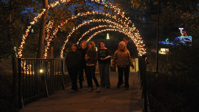 More than 60,000 lights glow in the night for the River Bend Nature Center ElectriCritters event, open to the public weekends through Christmas.