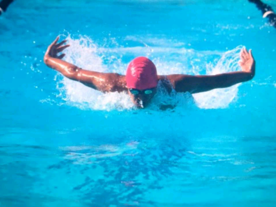 Rio Mesa High's Noah Elston swims the butterfly leg of the 200 individual medley at last week's Pacific View League meet. The Spartans will compete in the CIF-Southern Section Division 3 finals Thursday.