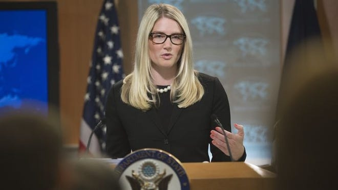 Marie Harf is the deputy spokesperson for the State Department's Bureau of Public Affairs.