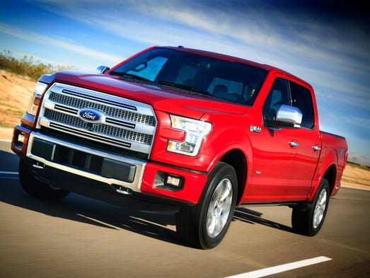 Ford dealers begin taking orders for the redesigned 2015 F-150 pickup Monday, July 28. Aluminum body panels and other changes cut 700 lbs. for better mpg.