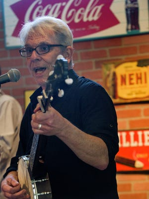 Larry Tobias performs as Kip Trash at the Black Swan Bar and Bistro at the Alabama Shakespeare Festival in Montgomery, Ala. on Tuesday March 15, 2016 to promote 'Kip Trash Songs of Humor and Despair' which will run from March 29 through April 9 at ASF.