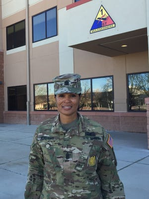 Command Sgt. Maj. Pamela K. Williams has been the senior enlisted leader for the 1st Armored Division Sustainment Brigade for the past two years. She relinquishes the position Friday.