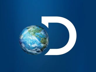 The Discovery Channel logo, a picture of the earth overlapping with the letter D.