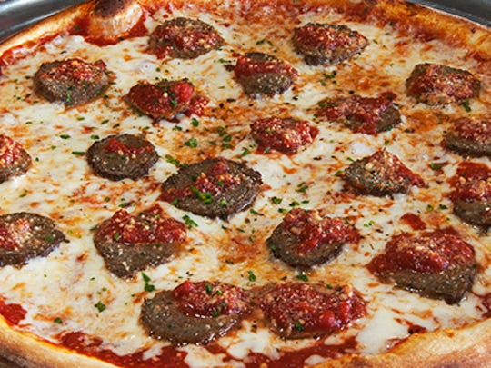 A sausage pizza from Nino's Thick & Thin in San Carlos, a favorite of readers.