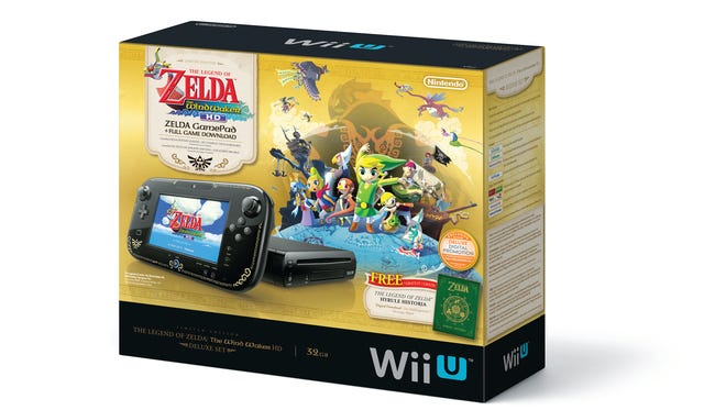 The limited edition Wii U bundle featuring the game 'The Legend of Zelda: Wind Waker HD.'