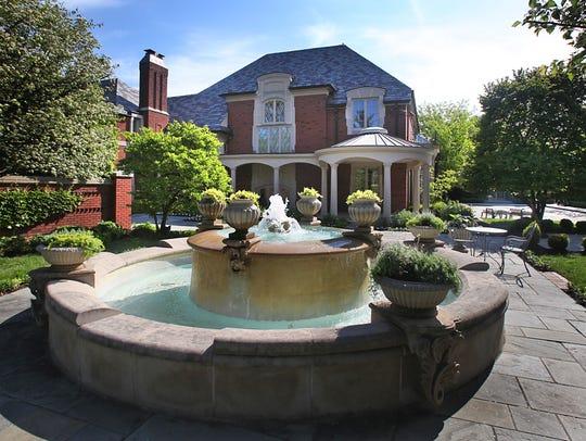 An exterior from the garden fountain area, facing Meridian