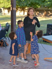 Margaret Ahumada and her children.