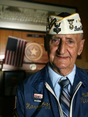 Harry Ogg, 84, and the WWII Pearl Harbor Survivors-Corpus Christi chapter are working to build a granite monument built in Sherrill Park. Ogg is a former Navy Petty Officer 1st Class who survived the Pearl Harbor attack on Dec. 7, 1941. Photo taken in 2006.
