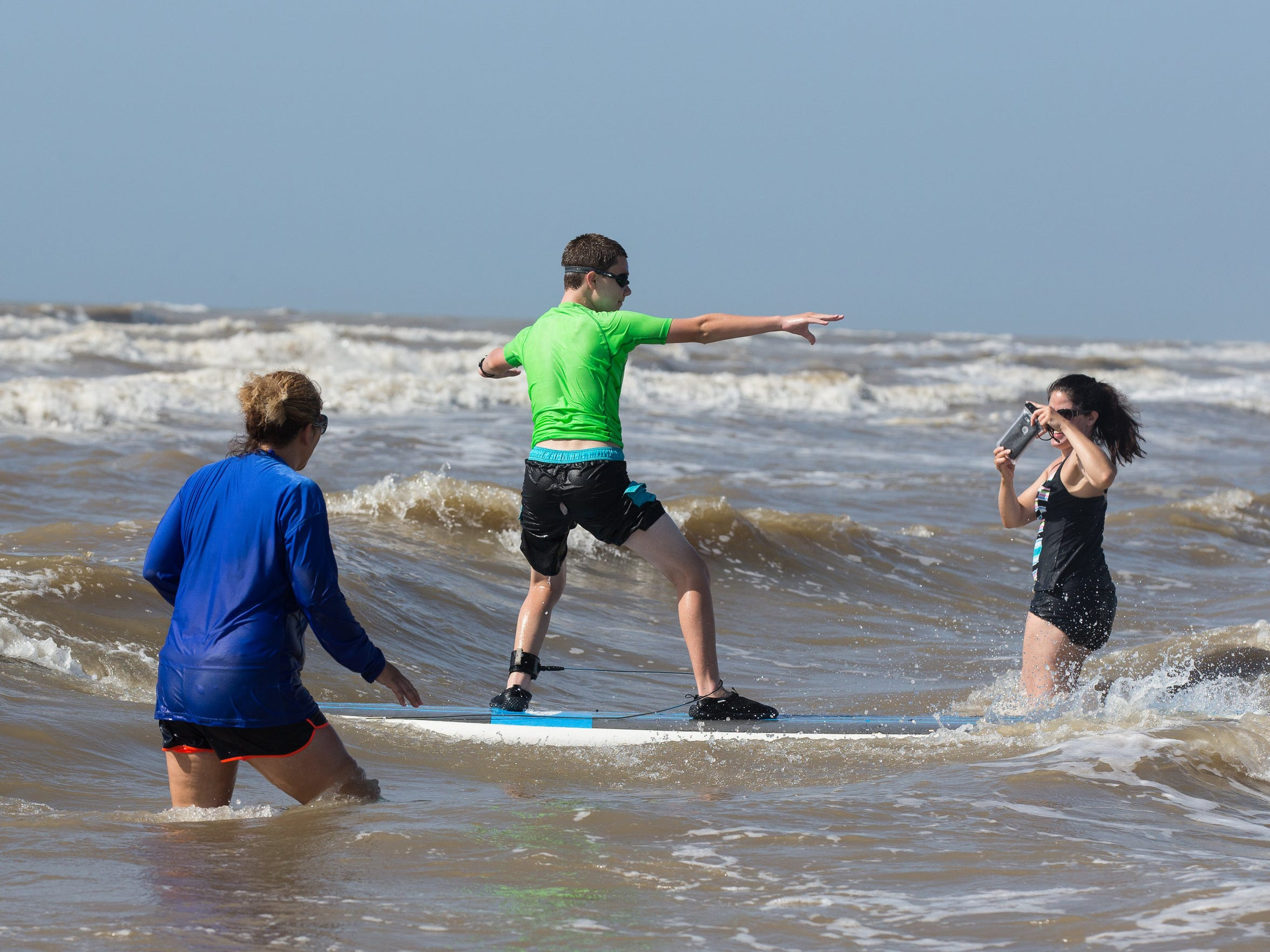 Kids 6 and older can learn to surf at Texas Surf Camps
