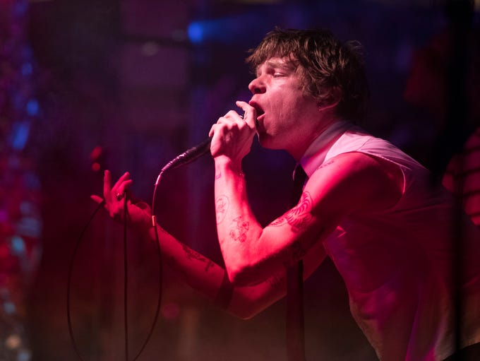 Cage the Elephant lead singer Matt Schultz performs
