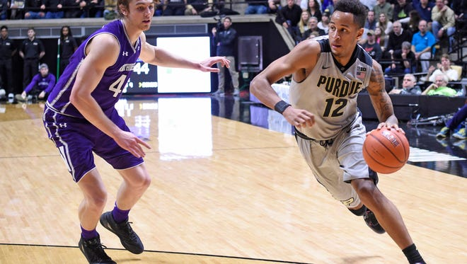 Purdue has just one player who can shoot from distance, score in the post and also drive and create for himself or others, Gregg Doyel writes: Vince Edwards. Edwards sparked the Boilermakers to a an 80-59 victory Wednesday night.