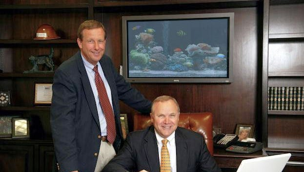 Proctor Construction Company CEO Donald Proctor (right) and Donald Tolliver, president and chief operating officer.
