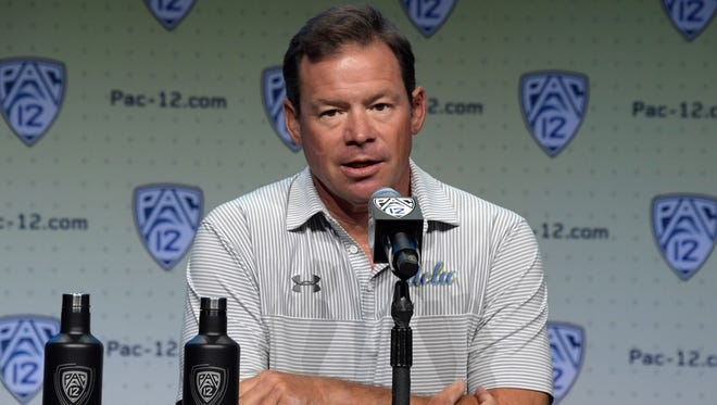 Jim Mora coached six seasons at UCLA, leading the Bruins to an overall record of 46-30.