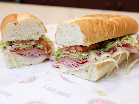 The No. 13 Original Italian Sub with provolone, ham,