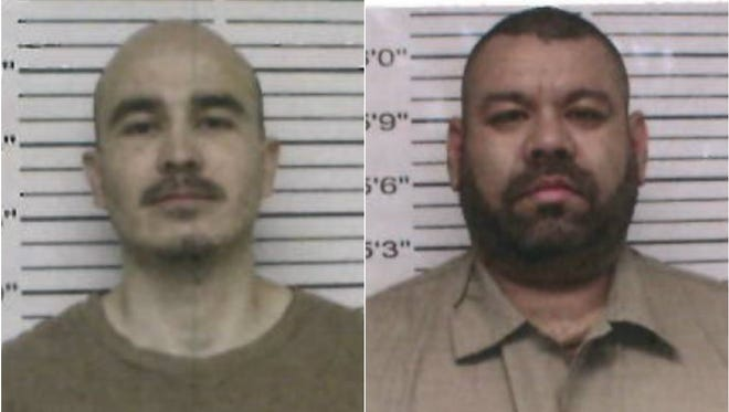 Gustavo Adolfo Leon (left) and Hector Hernan Lerma escaped from the Big Spring Federal Correctional Institution Satellite Prison Camp on Sunday, March 11, 2018.