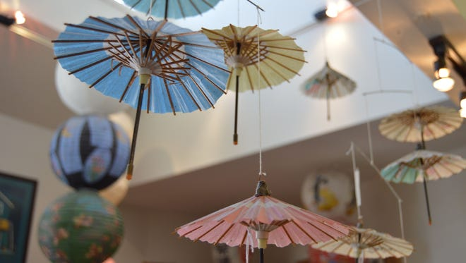 In addition to a number of wind chimes, Japanesque in Bethany Beach sells Chinese lanterns and hanging Chinese umbrella mobiles.