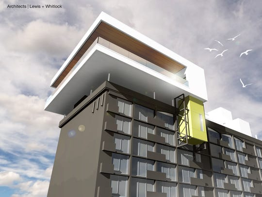 An architectural rendering of a new topper at the Double