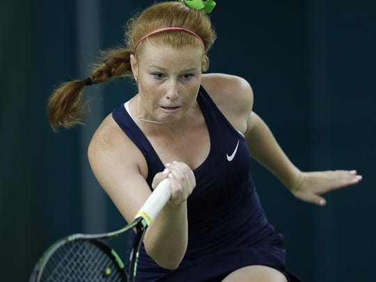 Cathedral's Maeve Koscielski is 15-1 this season at No. 1 singles.