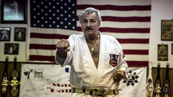 George Annarino was honored with an 80th birthday party at his Newark martial arts school in July of 2015.