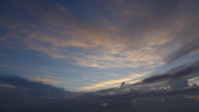Sunrise over Palm Beach Tuesday, Aug. 4, 2020.