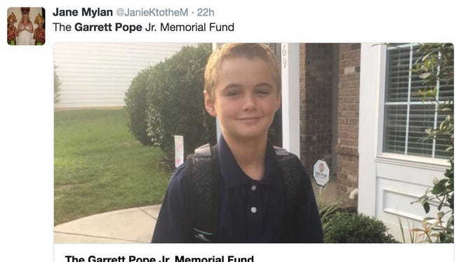 "Garrett Pope Jr. died last week after playing the ""choking game."""