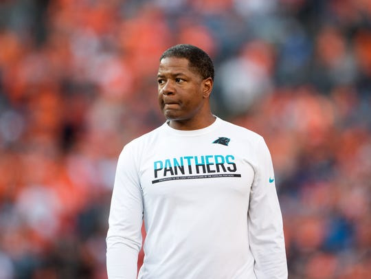 Carolina Panthers assistant head coach Steve Wilks
