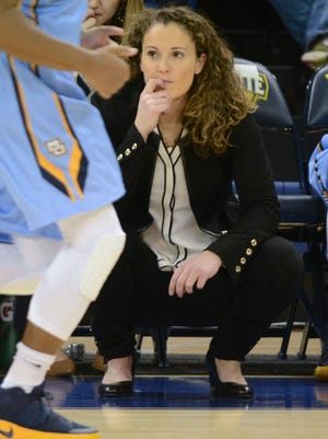 Marquette coach Carolyn Kieger watches her team play UW-Green Bay in a women's basketball game Tuesday, December 6, 2016, at the Al McGuire Center on the Marquette campus in Milwaukee, Wis.