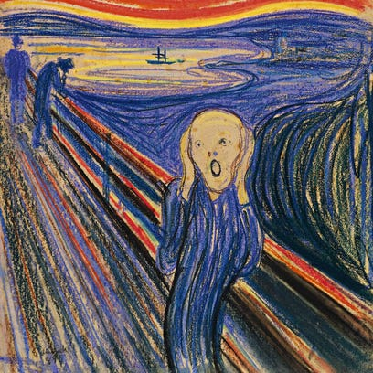 """The Scream"" by Norwegian painter Edvard Munch is one"