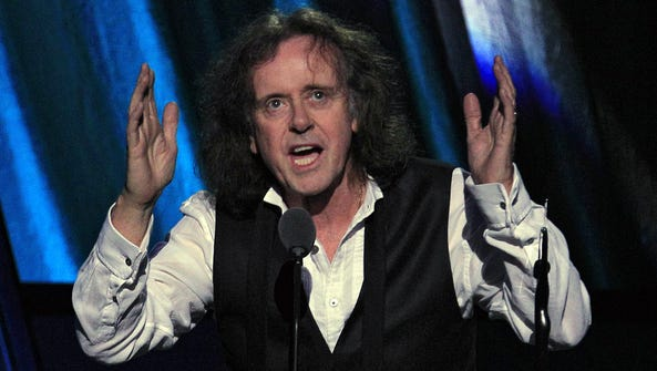 Donovan, shown being inducted into the Rock 'n' Roll