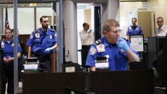 A Transportation Security Administration security check