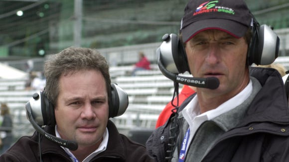 Kyle Moyer, shown here with Barry Green, has been with the same IndyCar team for more than 20 years.