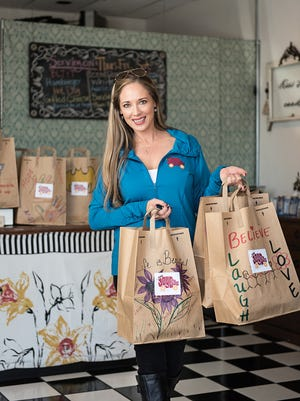 You'll feel warm and fuzzy as you fill up at Jennifer Caraways' diner, where proceeds benefit The Joy Bus, a local charity that brings meals and companionship to homebound cancer patients.