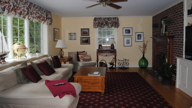 A family room in the Edenridge home, which includes 2,825 square feet.