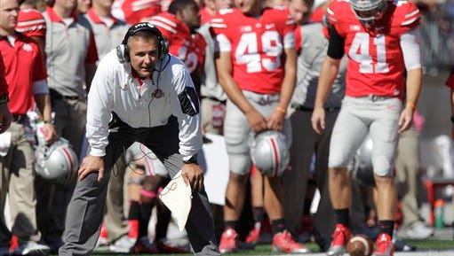 Ohio State coach Urban Meyer will make his New Jersey debut Saturday against Rutgers.