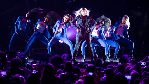 Beyonce performs during a campaign rally for Democratic presidential candidate Hillary Clinton in Cleveland, Friday, Nov. 4, 2016.
