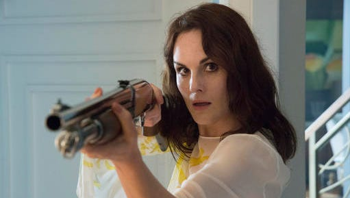 "This image released by TNT shows Michelle Dockeryin a scene from the TNT drama series, ""Good Behavior,"" premiering on Tuesday."
