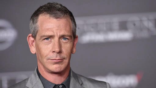 """FILE - In this Dec. 10, 2016 file photo, Ben Mendelsohn arrives at the world premiere of """"Rogue One: A Star Wars Story"""" at the Pantages Theatre, in Los Angeles. Court records show Mendelsohn's wife has filed for divorce from the """"Rogue One"""" star. Emma Forrest filed for divorce in Los Angeles Superior Court on Friday, Dec. 29 citing irreconcilable differences as the reason for the end of their four year marriage. Forrest is seeking physical custody of their 3-year-old daughter.  (Photo by Jordan Strauss/Invision/AP, File)"""