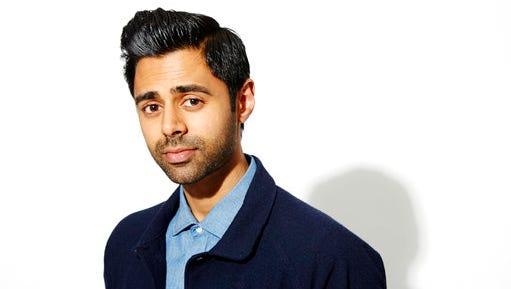 FILE - In this Oct. 12, 2015, file photo, Hasan Minhaj poses for a portrait in New York. The White House Correspondents Association announced April 11, 2017, that Minhaj would headline the organization's annual dinner this year.