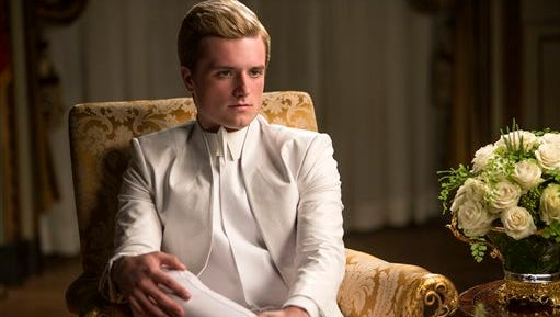 "In this image released by Lionsgate, Josh Hutcherson portrays Peeta Mellark in a scene from ""The Hunger Games: Mockingjay Part 1."""