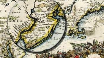 "Detail from Pieter van der Aa's 1759 map of ""Nouvelle Hollande"""