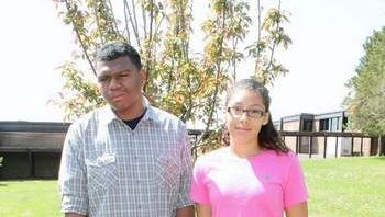 Paul Robeson Youth Achievement Awards Recipients and SCVTHS students Jean-Pierre Jacob (left) and Giannie Cintron.