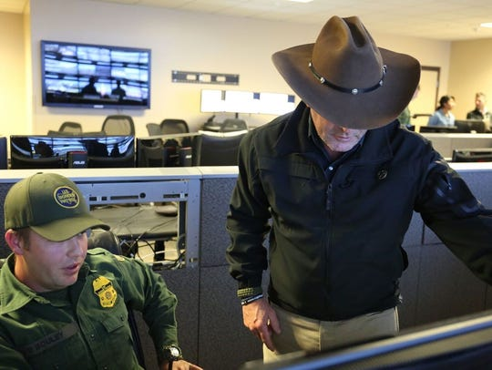 In Tuscon, Higgins learns how the border is monitored.