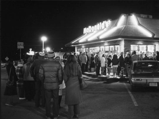 IU basketball fans won free McDonald's after the Hoosiers beat Iowa 102-49 on Jan. 11, 1975.