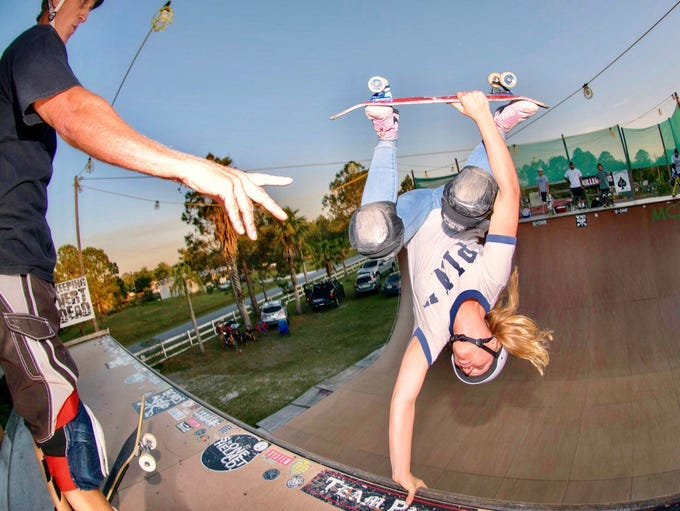 15-year-old skateboarder Grace Marhoefer, of Cocoa