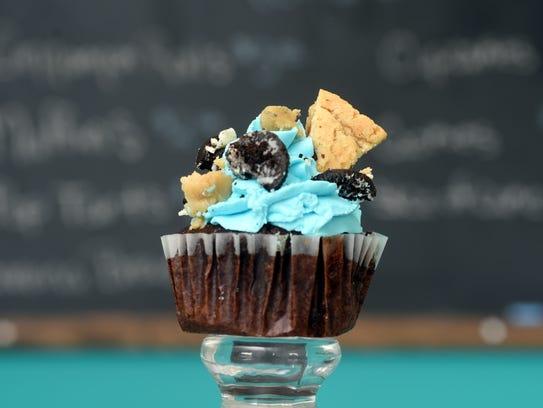 The chocolate cookie monster cupcake at Linda's Sweets