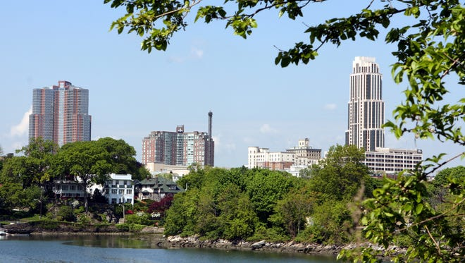 View of downtown New Rochelle from Echo Bay May 21, 2008. ( Stephen Schmitt / The Journal News )