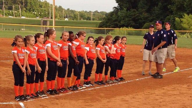 Dickson Co. 7/8 softball All-Stars.