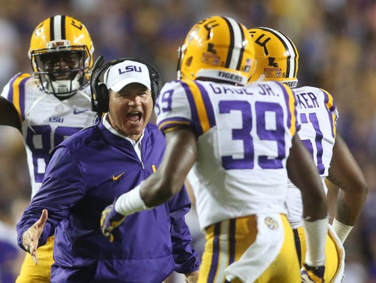 Former LSU head coach Les Miles led the Tigers to a